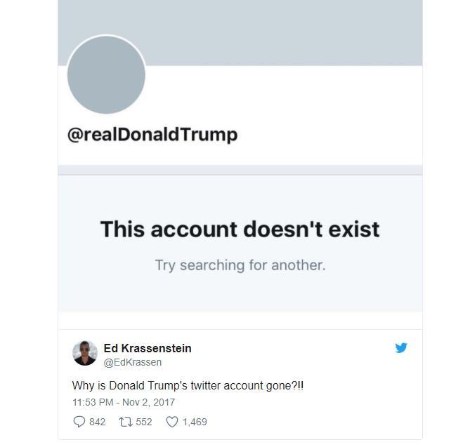 Impiegato di Twitter all ultimo giorno di lavoro disattiva account Trump (e diventa eroe sui social)