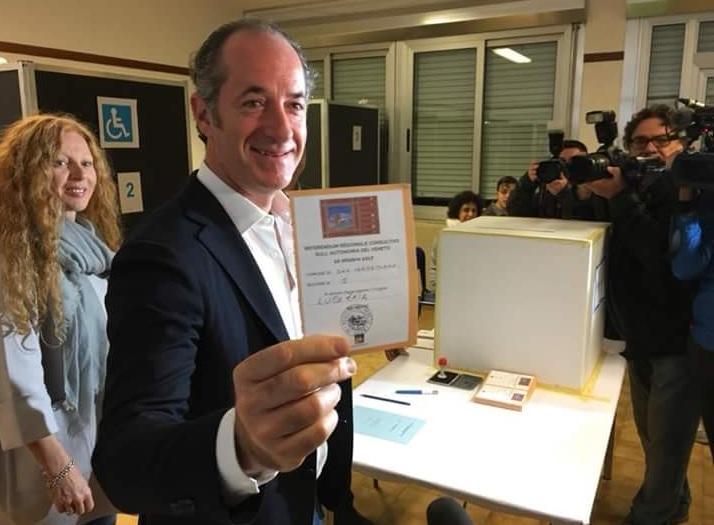 Referendum autonomia Veneto e Lombardia: votano i big