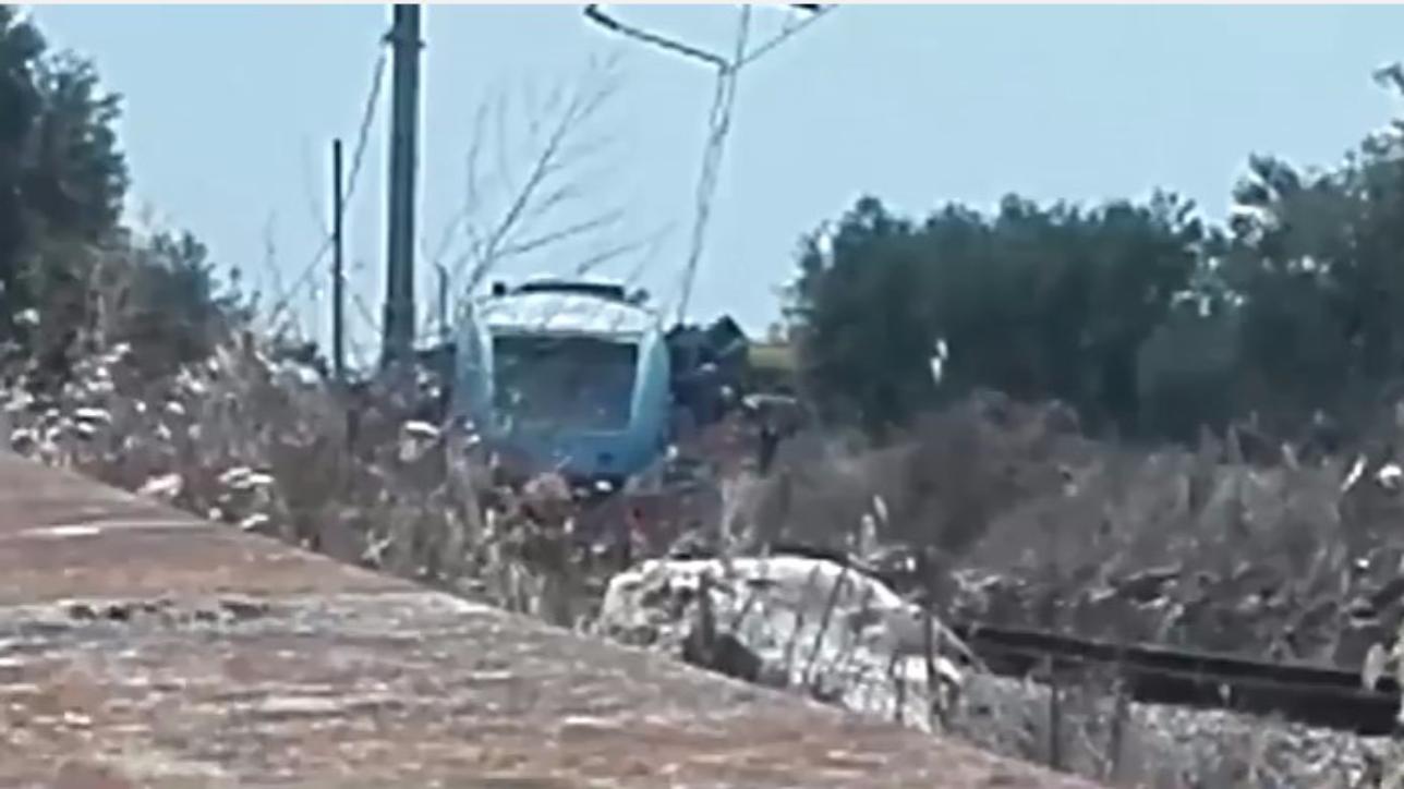 Andria-Corato, le immagini dell'incidente ferroviario