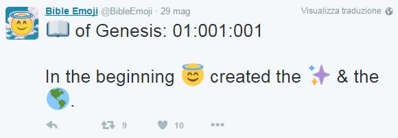 Bibbia in emoji: alcuni versetti tradotti su Twitter