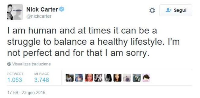 Nick Carter, il biondino dei Backstreet Boys dopo l arresto:  Non sono perfetto