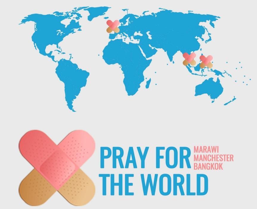 Pray for the world : Twitter ricorda le vittime degli attentatati a Manchester, Marawi, Bangkok e in Siria