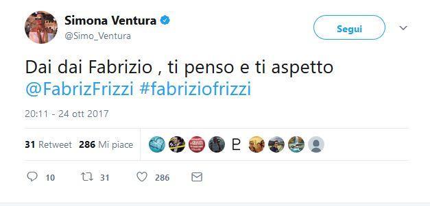 Fabrizio Frizzi, gli auguri via Twitter di amici e colleghi