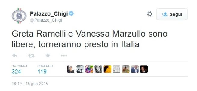Siria, rilasciate le due ragazze italiane Salvini: