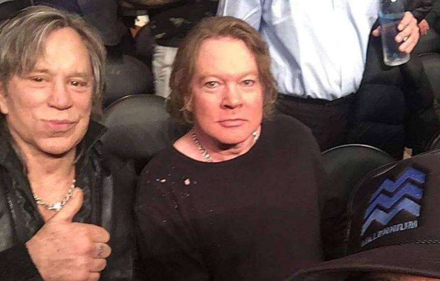Mickey Rourke e Axl Rose... guarda come sono diventati