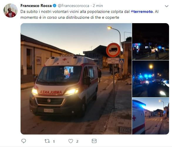 Terremoto Catania, il presidente Croce Rossa:  Ci siamo