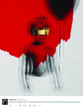 Rihanna stupisce tutti, a sorpresa esce il nuovo album  Anti