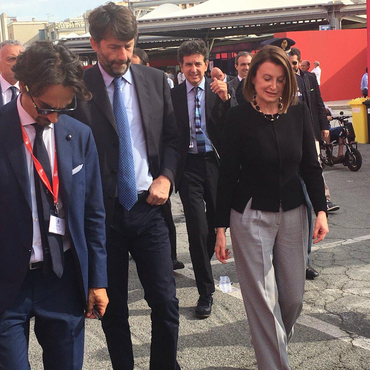 Il ministro Franceschini visita il Salone Nautico 2016