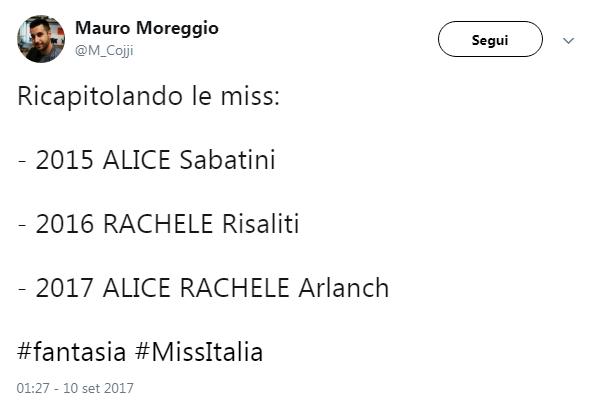 Miss Italia 2017, l ironia corre su Twitter:  Già non mi ricordo più chi ha vinto
