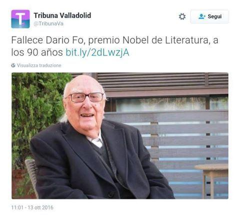 Dario Fo, testata spagnola lo confonde con Andrea Camilleri