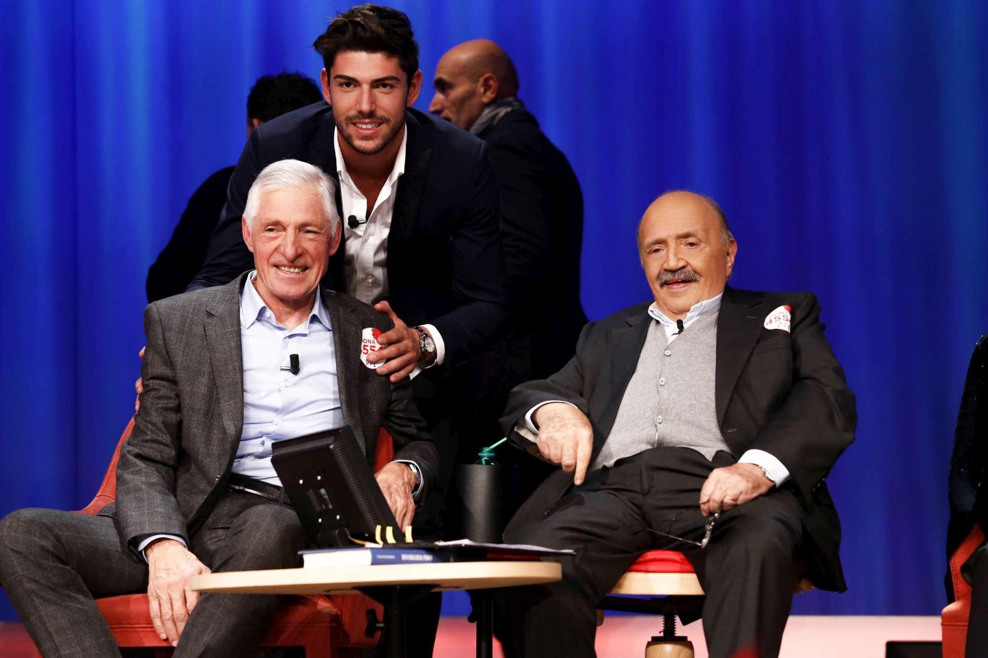 Maurizio Costanzo Show , sul palco Francesco Moser con il figlio Ignazio