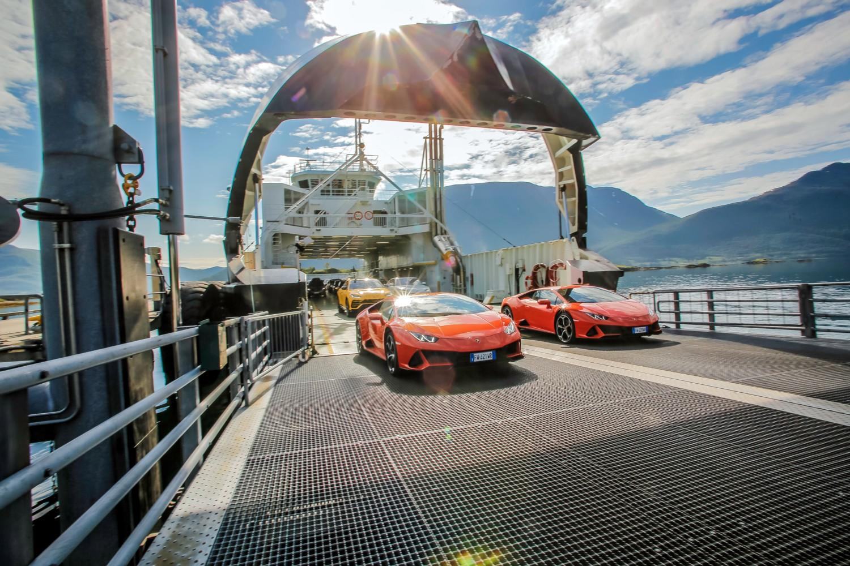 Le nuove Huracan alle Lofoten