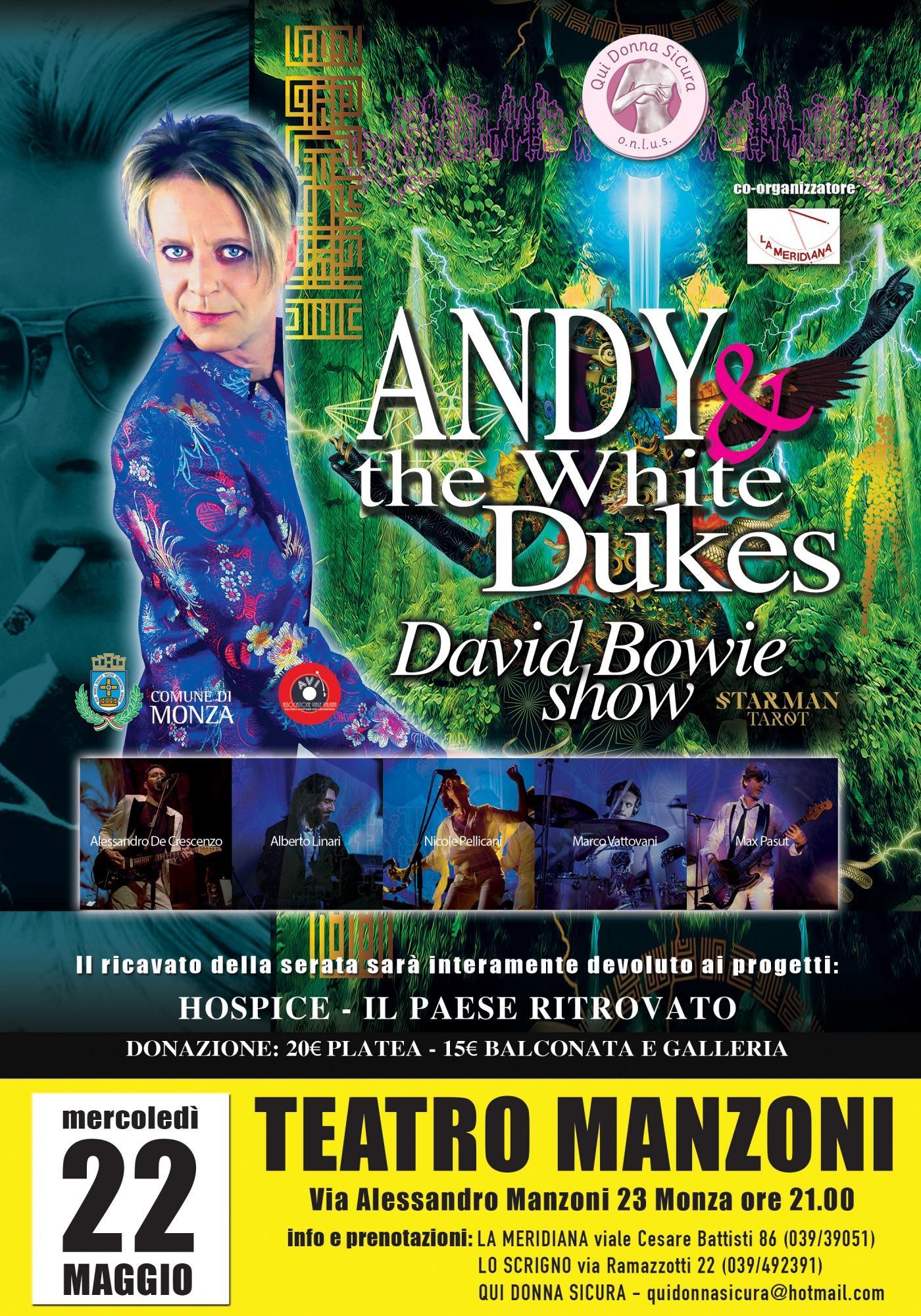 Serata di beneficenza con un tributo a Bowie di Andy dei Bluvertigo