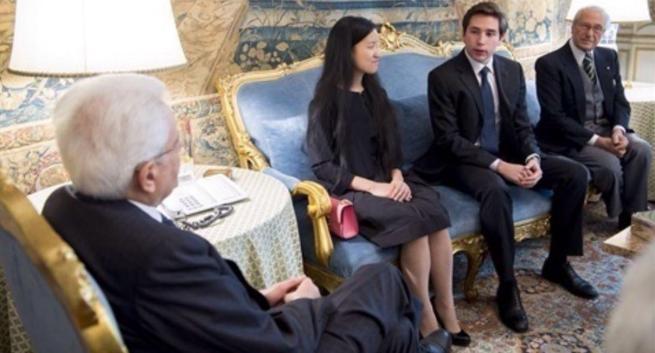 Aipoly, Alberto Rizzoli e Marita Cheng presentano la app a Sergio Mattarella