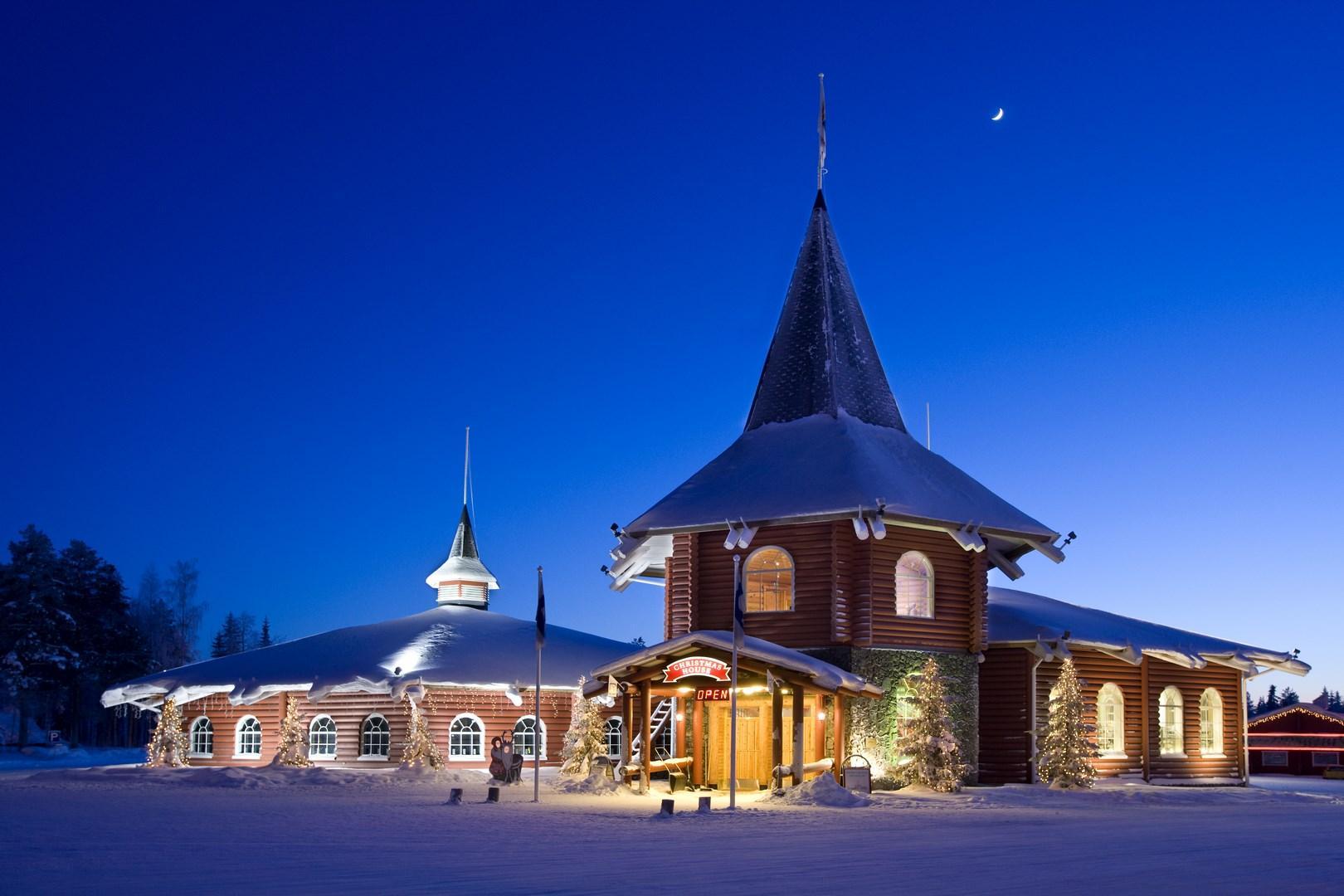 Polo Nord Di Babbo Natale.Tutti In Finlandia Nella Casa Di Babbo Natale Tgcom24