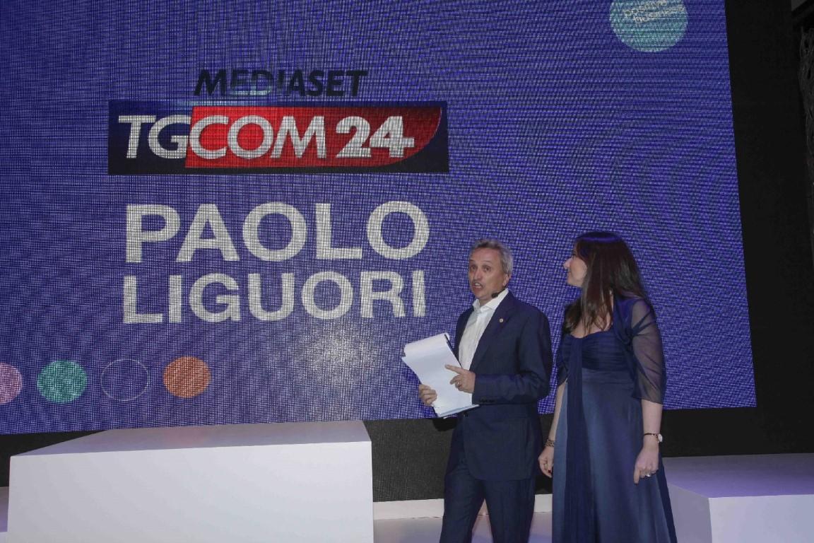 La consegna del premio al direttore di Tgcom24 Paolo Liguori