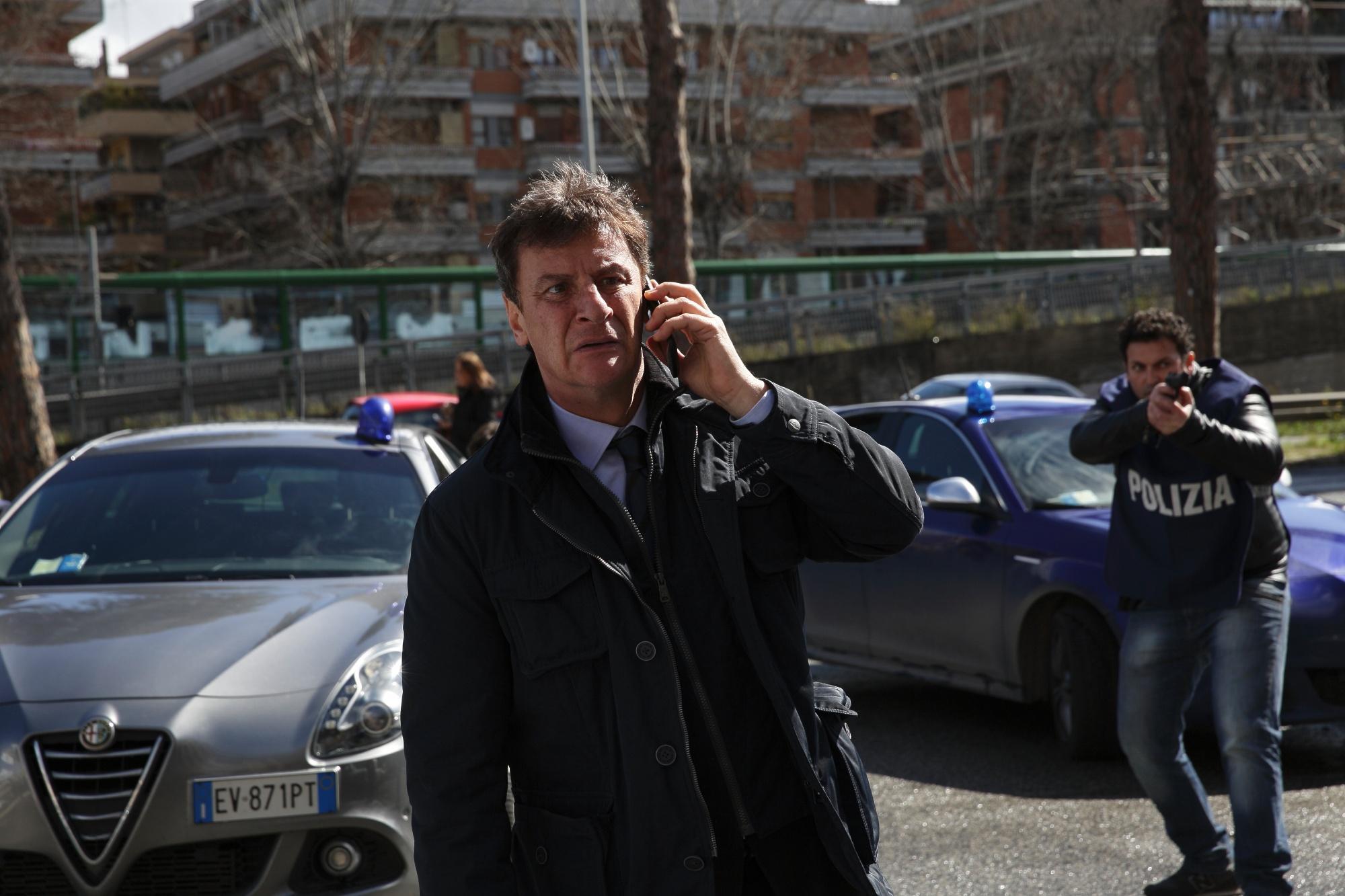 Squadra mobile - Operazione mafia capitale , le immagini dal set