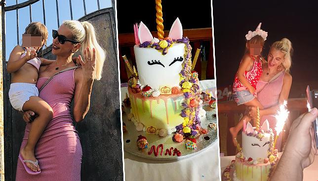 Compleanno tra gli unicorni per Nina, figlia di Clizia Incorvaia e Francesco Sarcina