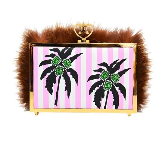 Cristalli preziosi e stampe briose: ecco la borsa del buonumore!