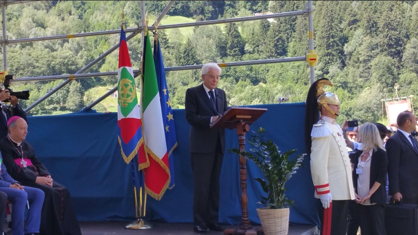 Mattarella in Valtellina per il trentennale dell alluvione:  Il primo pensiero va alle vittime