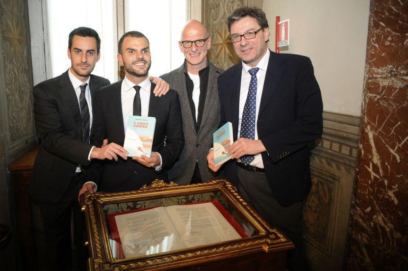 Daniele Cassioli, il campione cieco presenta  Il Vento Contro  a Palazzo Chigi: le foto