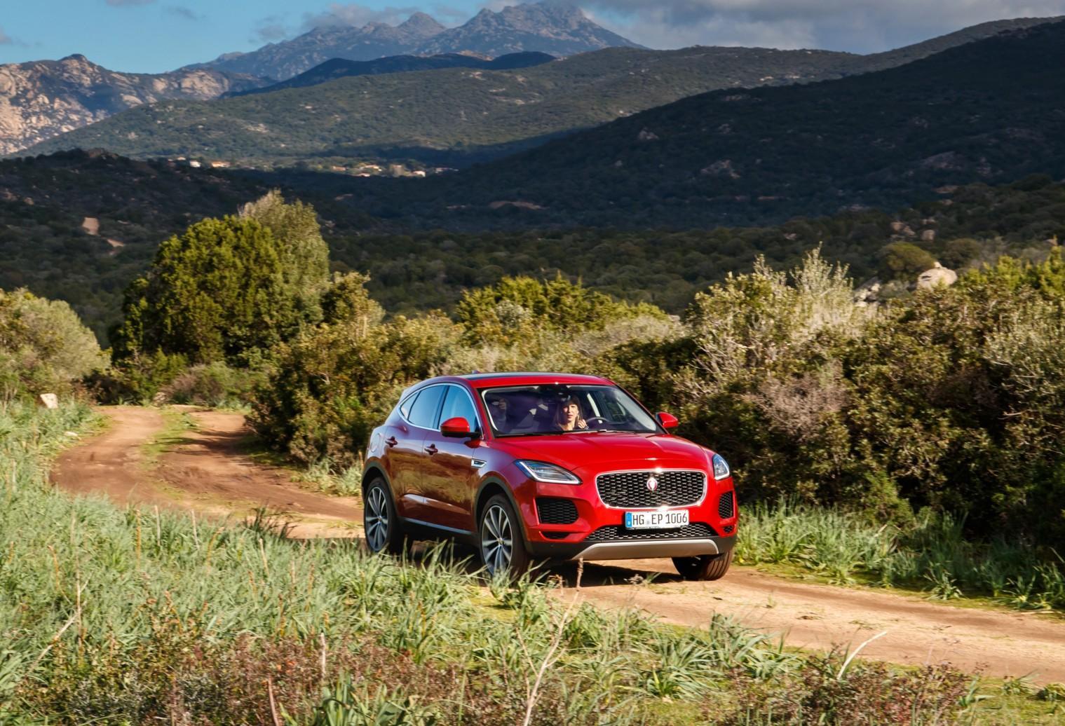 Jaguar E-Pace in Corsica
