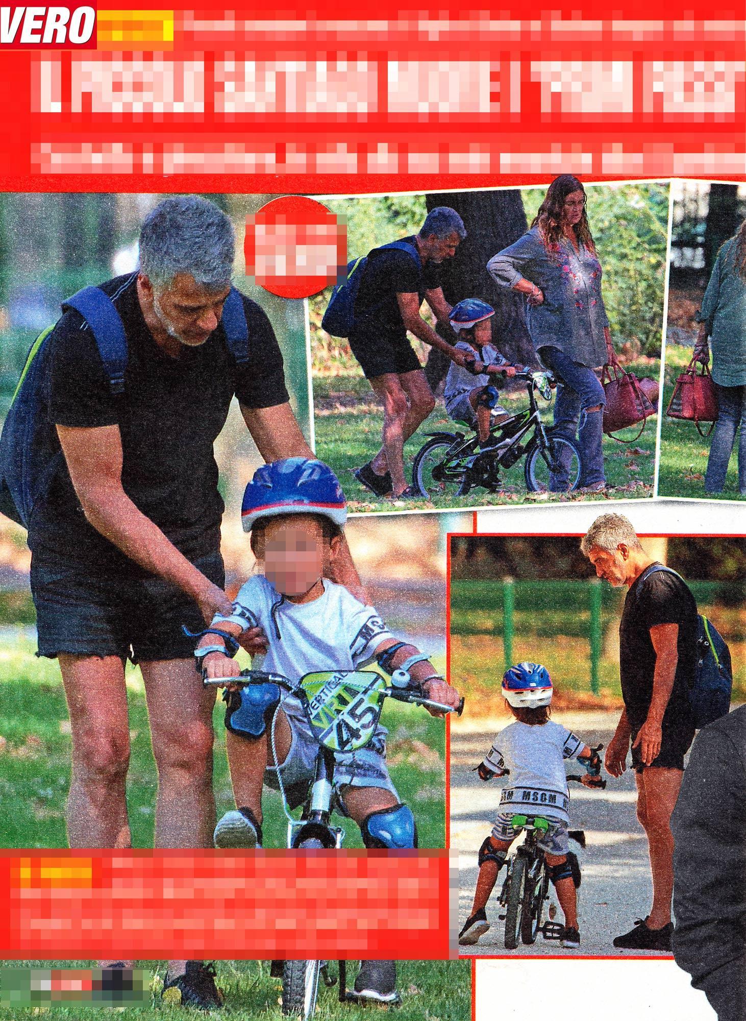Baby vip al parco, guarda il figlio di Belen in bici
