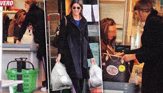 Cristina Chiabotto al supermercato pensando al suo Marco