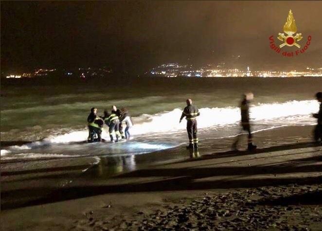 Rimesso in mare il delfino spiaggiato sul lungomare di Salerno