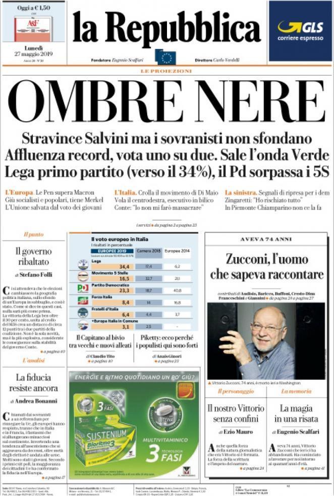 Elezioni europee, le prime pagine dei giornali italiani