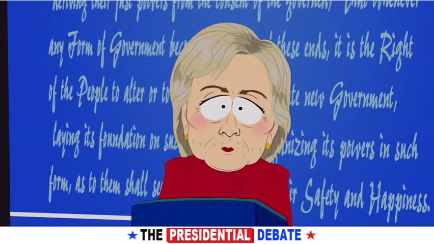 Il dibattito elettorale Clinton-Trump diventa parodia nella nuova stagione di South Park