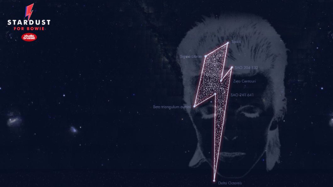 Un artista fra le stelle, ecco la costellazione-tributo al Duca Bianco