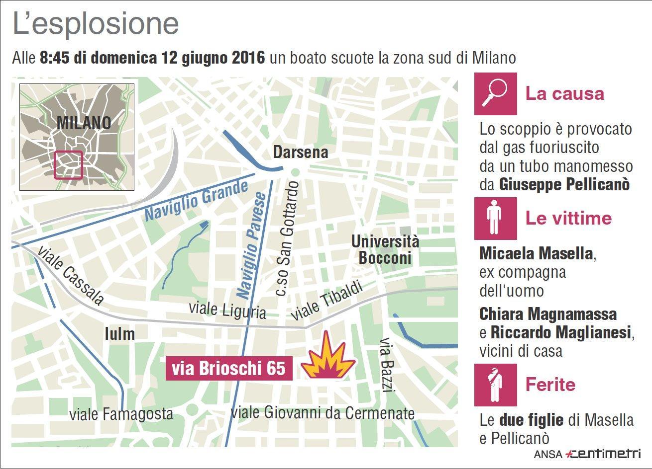 Milano, la zona dell esplosione