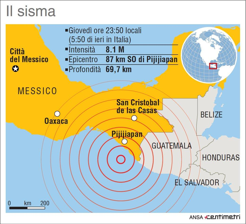 Messico, la scheda del devastante sisma