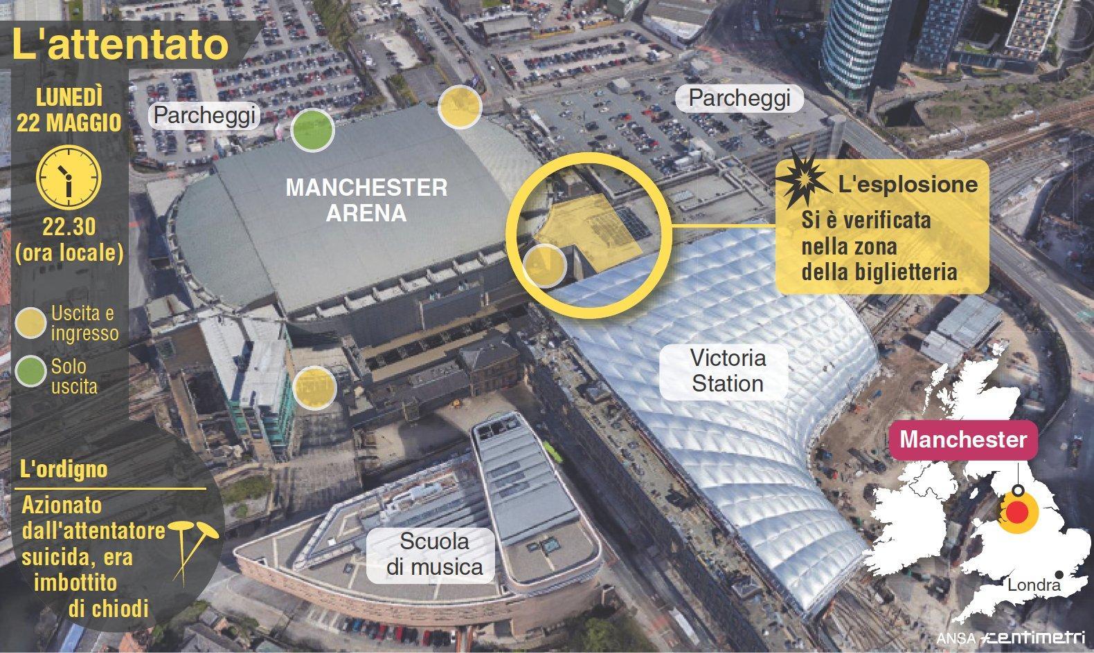 Attentato a Manchester: ecco come è avvenuta la strage
