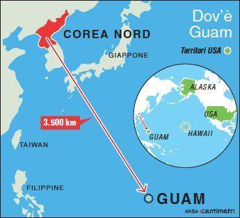 Guam e Corea del Nord, dov è l isola più  calda  del momento