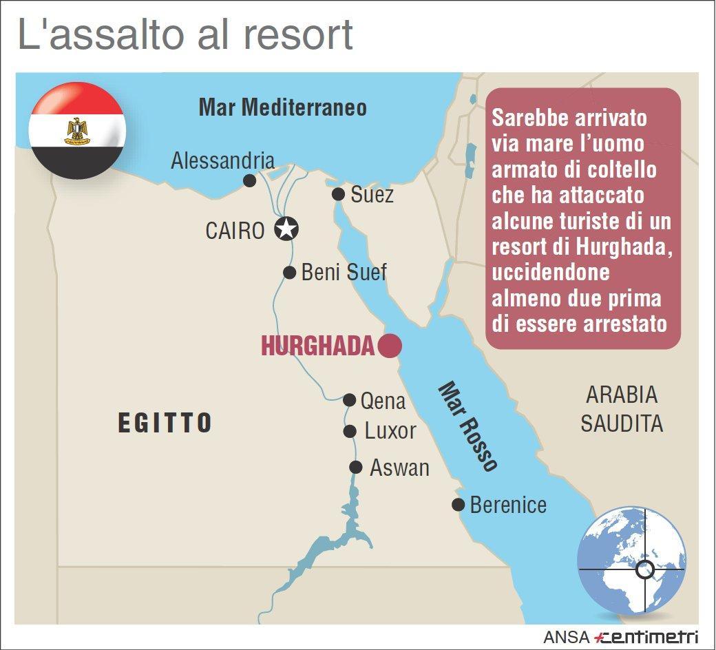 Attacco a Hurghada, due turiste uccise
