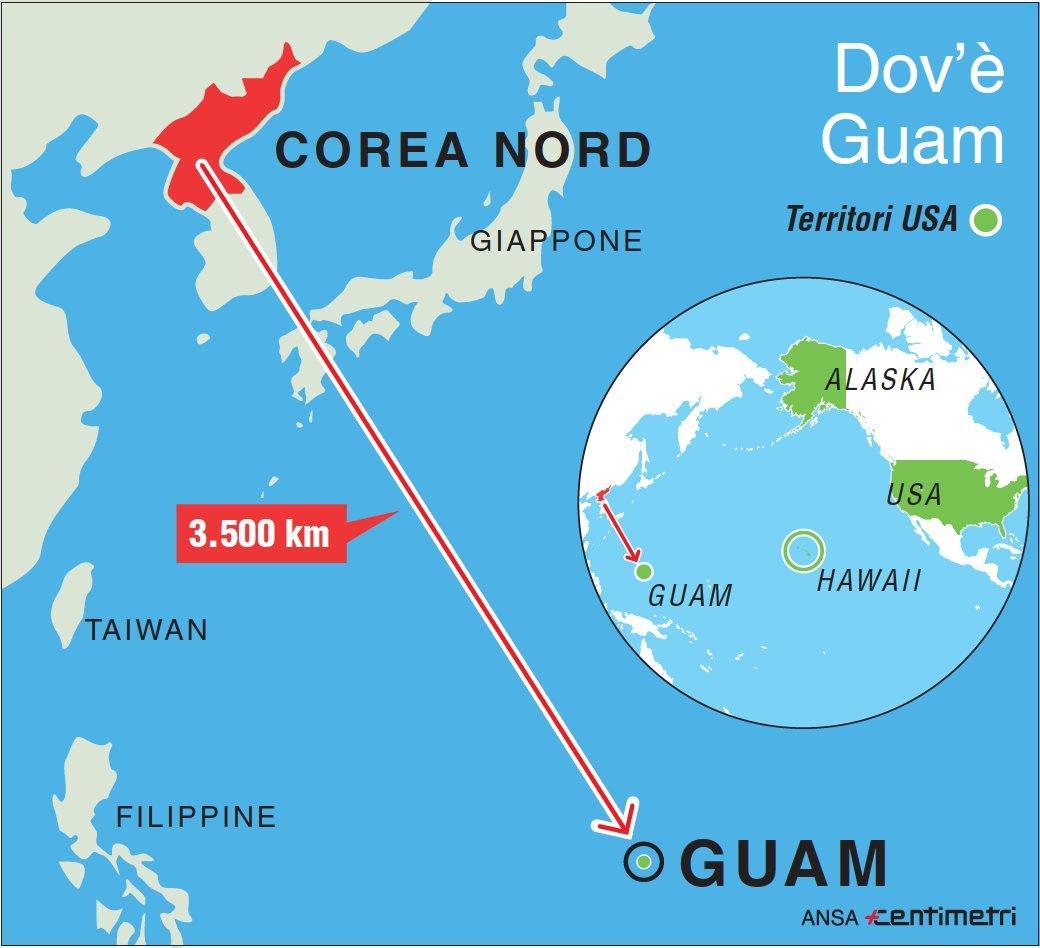 La Corea del Nord e il piano per colpire Guam