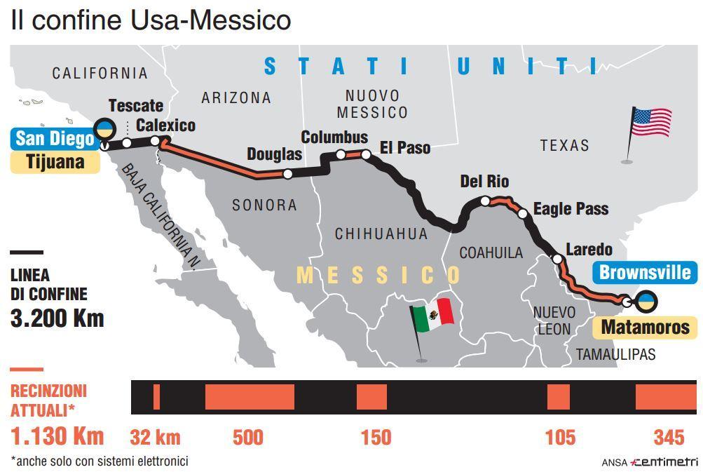 Usa, ecco il muro che Trump vuole costruire