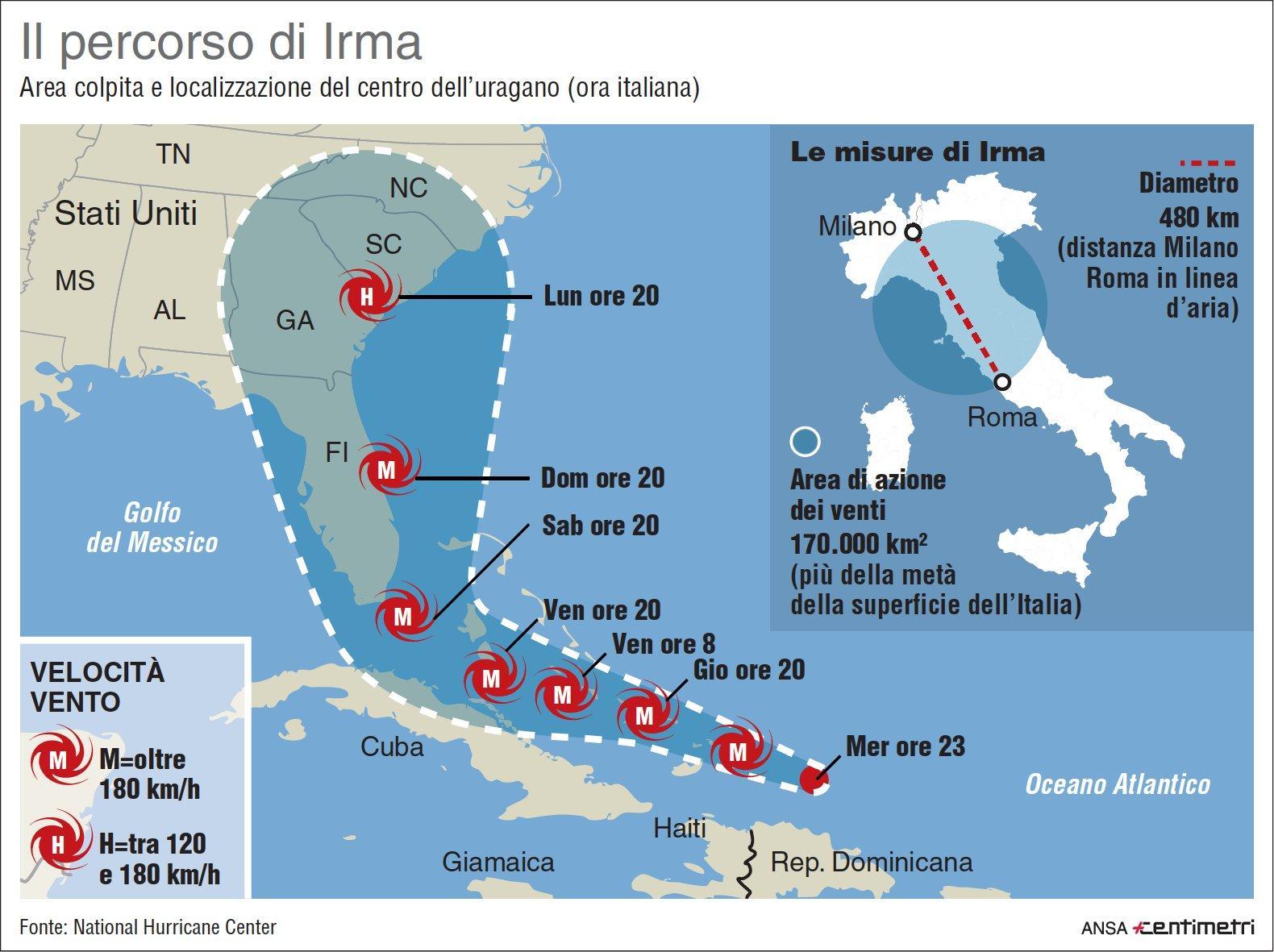 Caraibi e Usa nel mirino di Irma