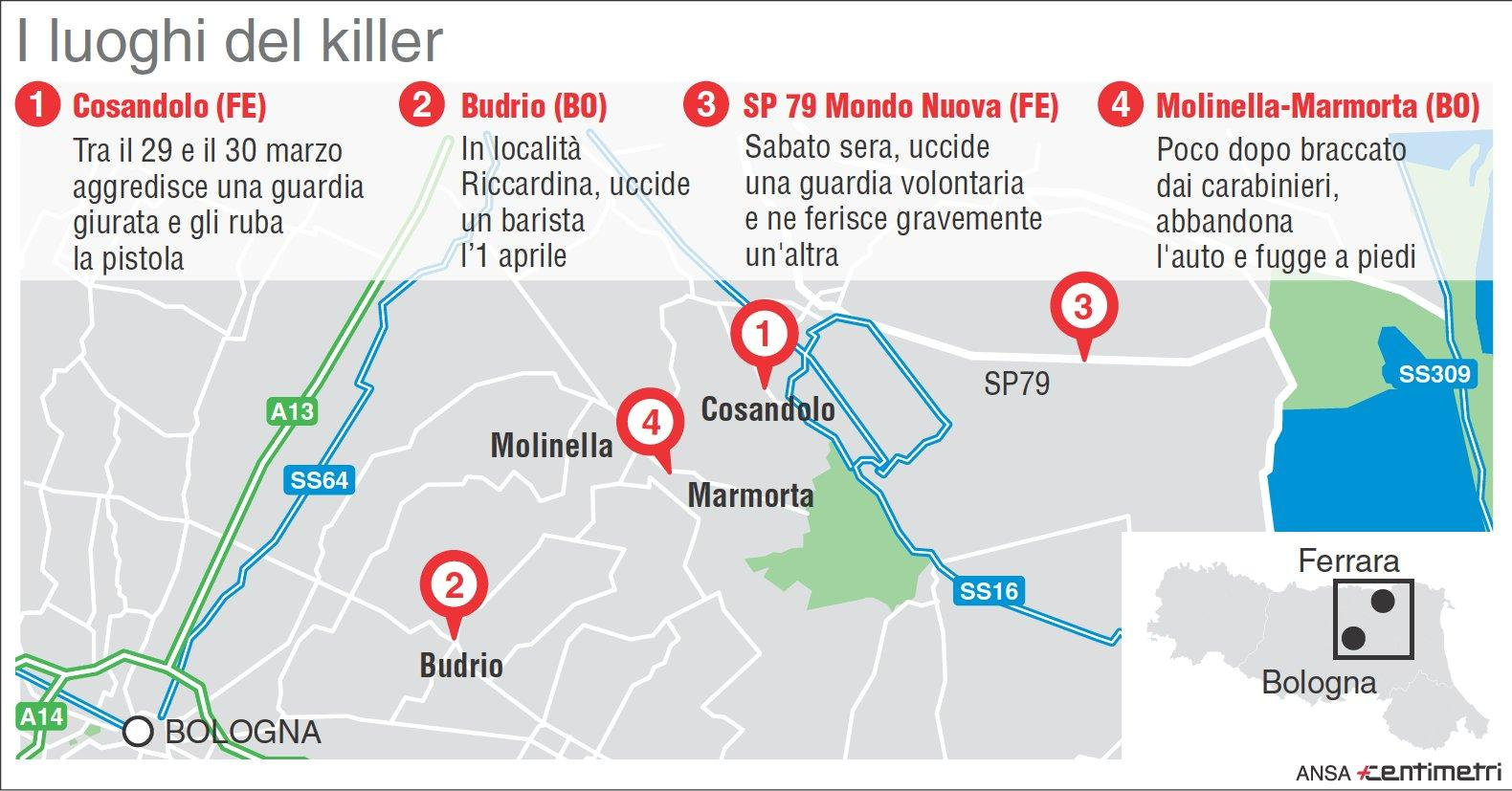Caccia al killer: i luoghi dove ha colpito Igor il russo