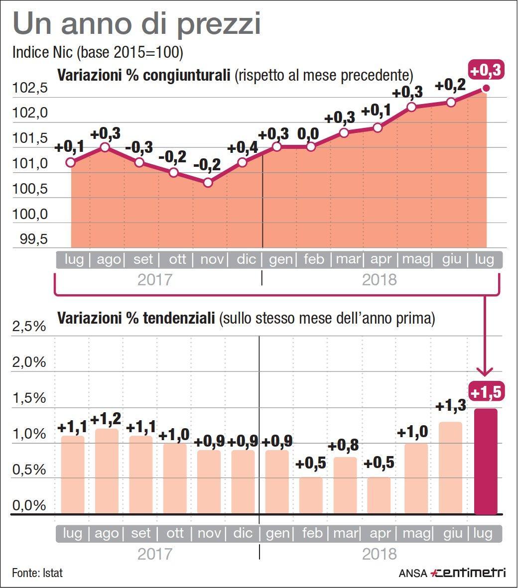 Andamento dell inflazione in Italia nell ultimo anno