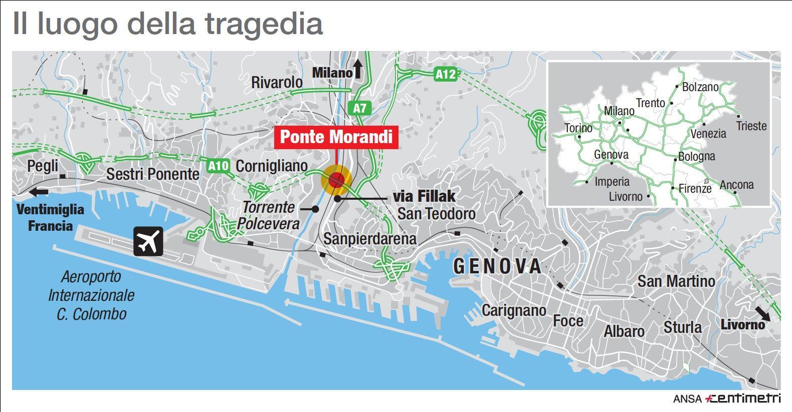 Genova, il luogo della tragedia