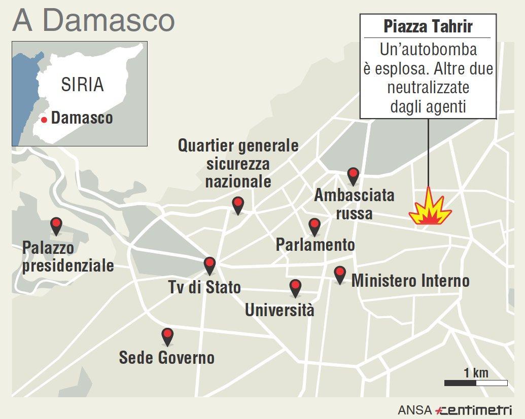 Siria, i punti nevralgici di Damasco