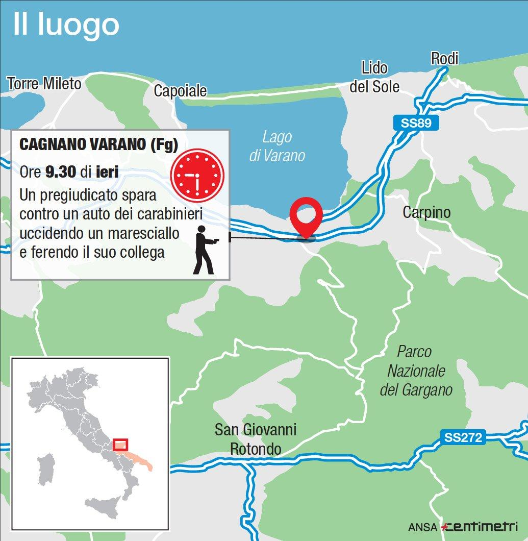 Cagnano Varano, ucciso un carabiniere
