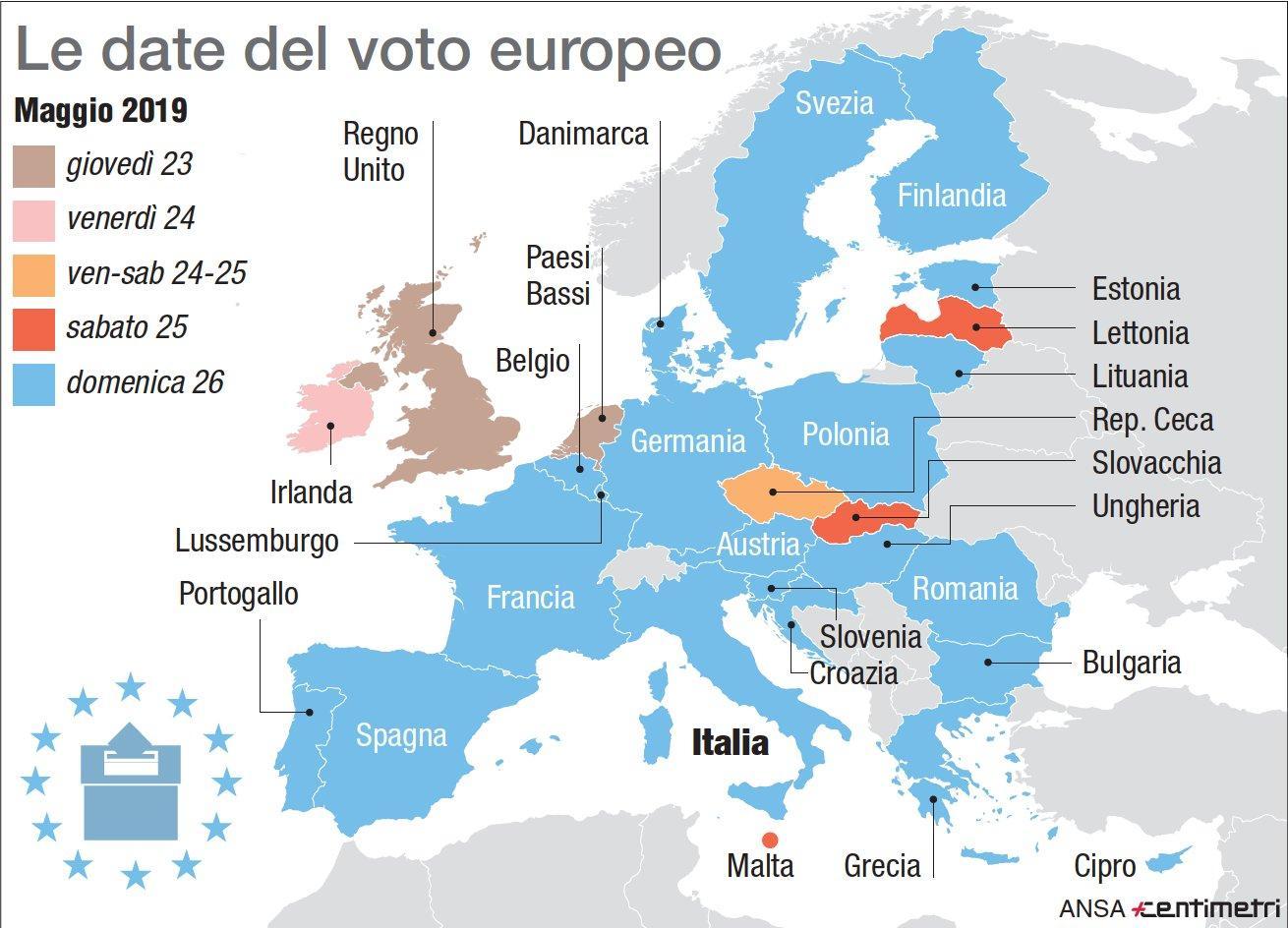 Europee, le date del voto nei vari Stati Ue
