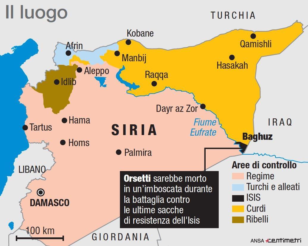 Isis, ucciso in Siria l italiano Lorenzo Orsetti