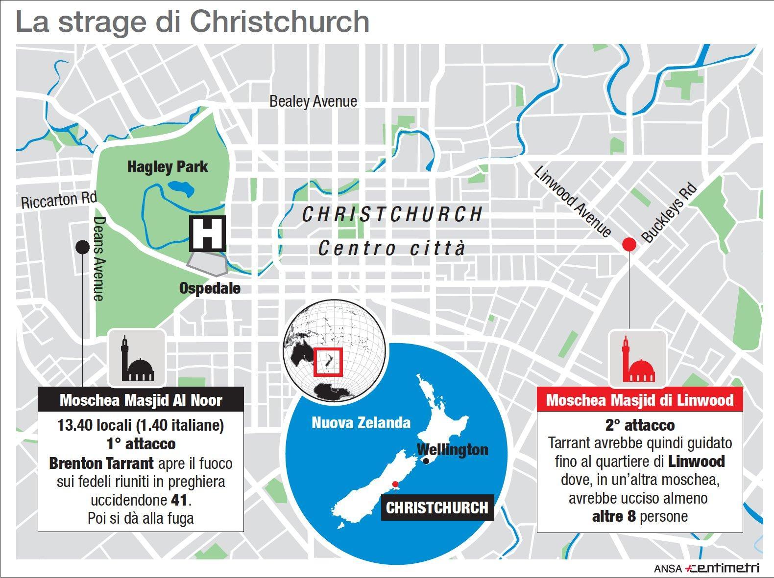 Nuova Zelanda, strage in due moschee