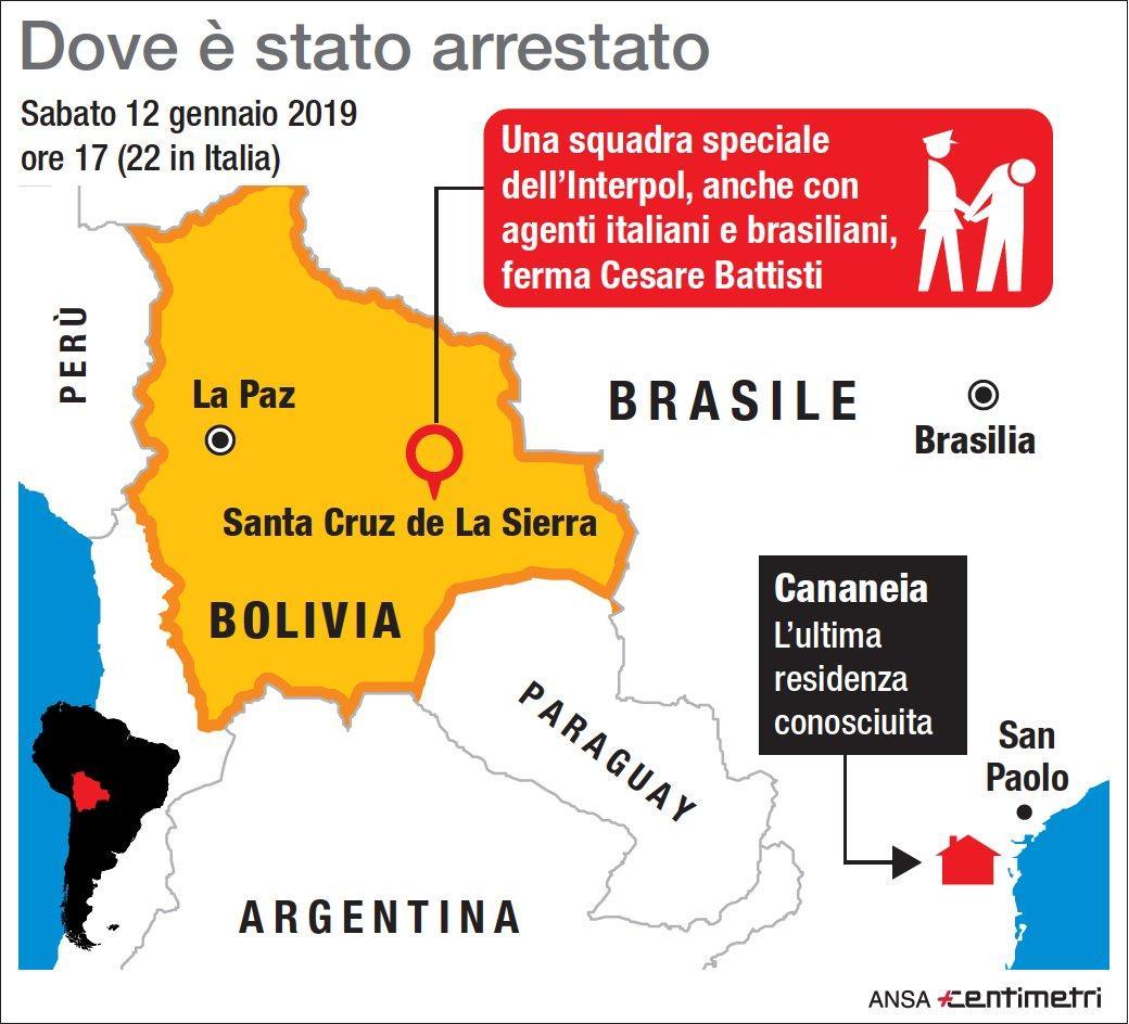 Cesare Battisti, i luoghi dell arresto