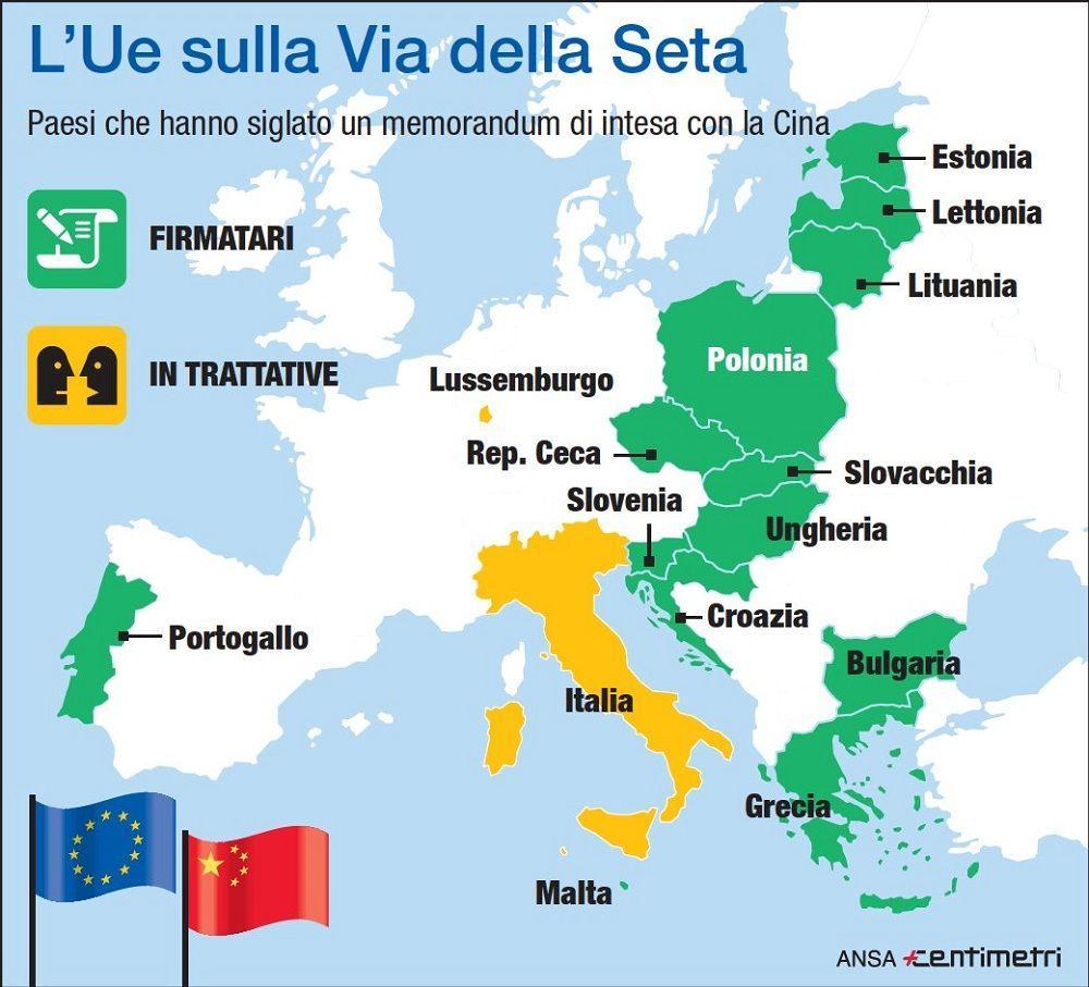 Via della seta, 13 Paesi Ue hanno firmato un intesa con la Cina